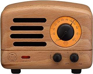 Muzen OTR WOOD BW Portable Wireless FM Radio and Bluetooth Speaker, Beech Wood
