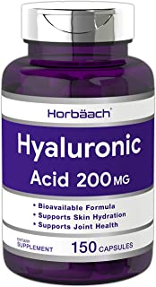 Hyaluronic Acid Capsules   200 MG   150 Count   Supports Joint and Skin Hydration   Non-GMO and Gluten Free Supplement   b...