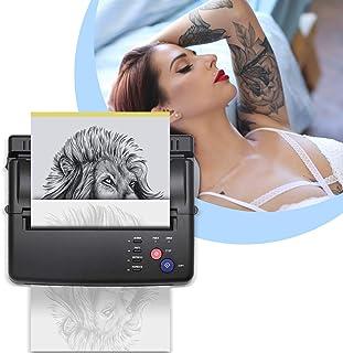 TTLIFE Tattoo Transfer Machine, Tattoo Printer met 500 digitale patronen en 10st transferpapier, Professionele tattoo ther...