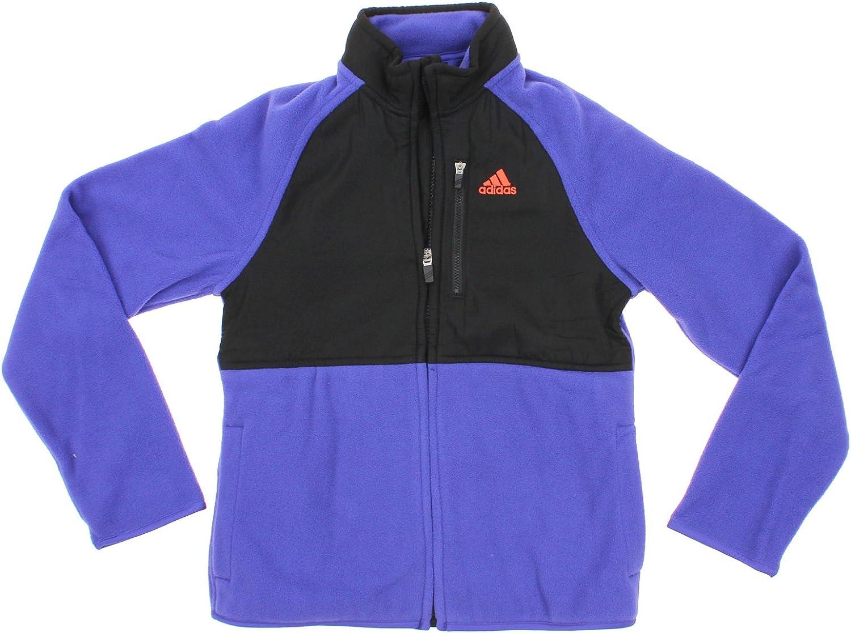 adidas Youth Big Girls Polar Fleece Mock Neck Jacket, Purple
