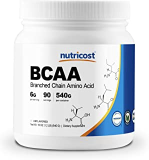 Nutricost BCAA Powder 2:1:1 (Unflavored) 90 Servings - High Quality Branched Chain Amino Acids
