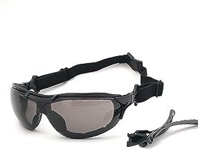 Óculos SOL Proteção ESPORTIVO STEELFLEX ROMA FUME Esportivo AIRSOFT Teste Balístico Paintball Resistente A Impacto Ciclism...