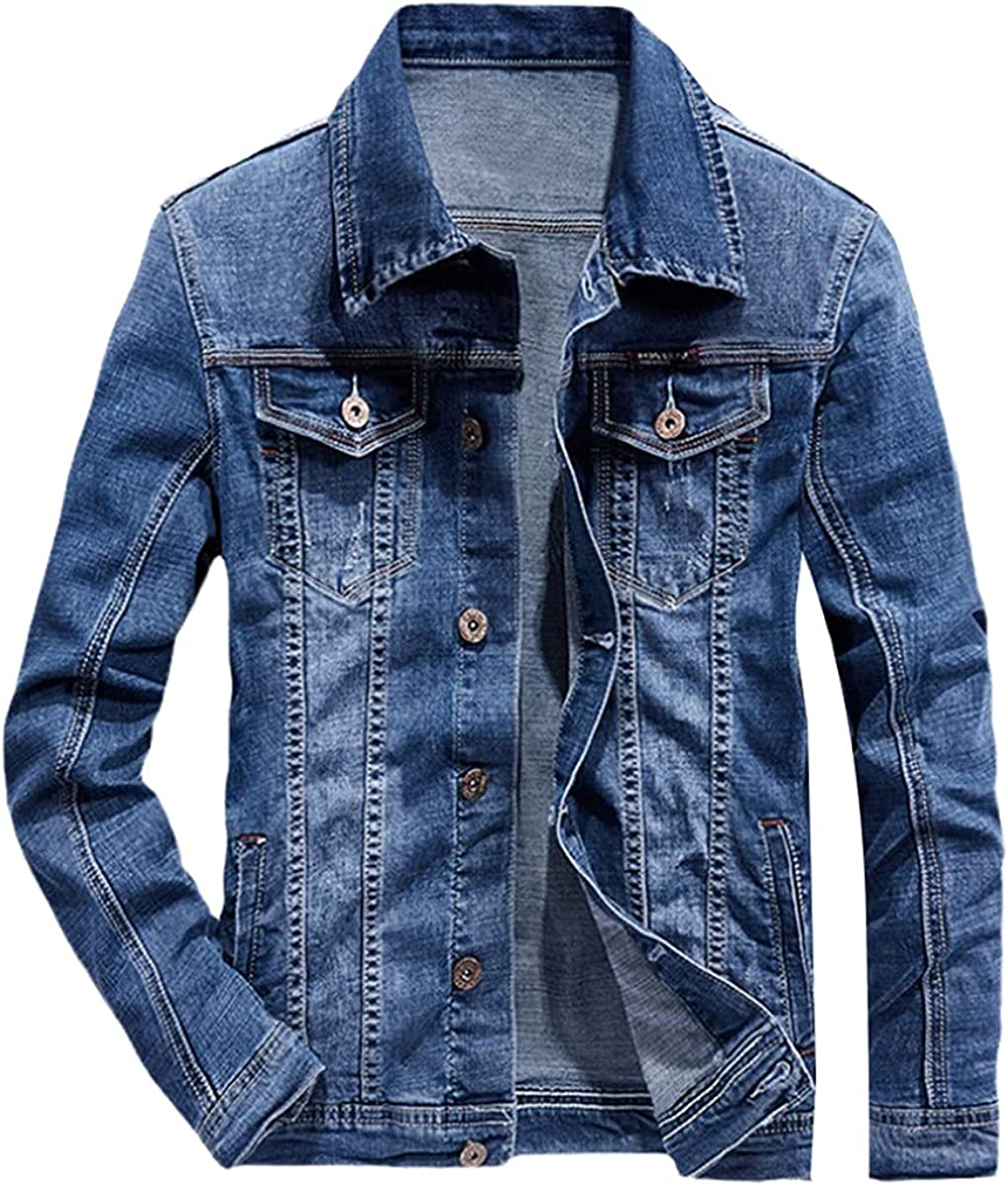 Spring Punk Style Men's Jeans Suit Simple blazerue Long-Sleeved Jacket and Jeans Two-Piece Couple Suit