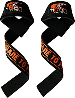 Tigon Sports Padded Heavy Weight Lifting Training Straps Gel Gym Hand Bar Wrist Support Wraps