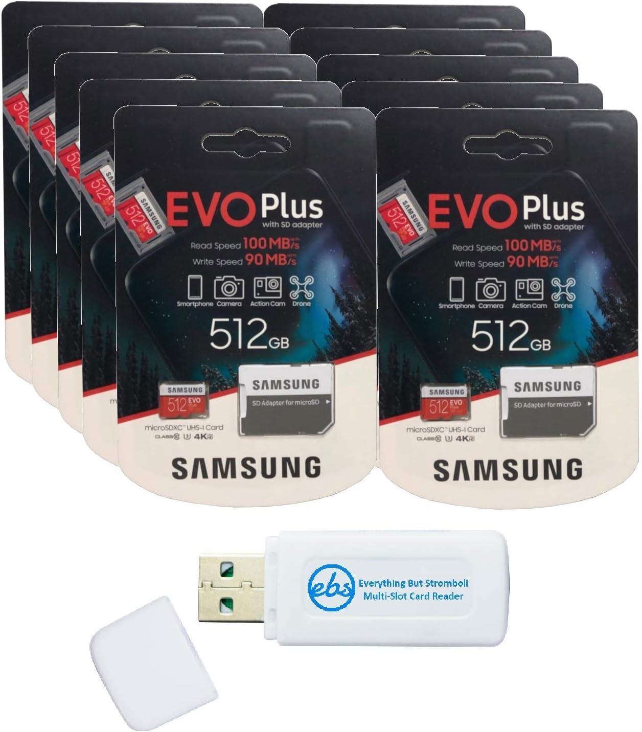 Samsung 512GB Evo Plus MicroSD Dealing full price reduction Card Pack 10 Columbus Mall EVO+ Class Bundle