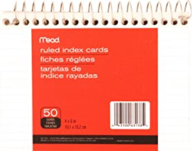 Mead Wirebound Ruled Index Cards, 4 X 6 Inches (63138)
