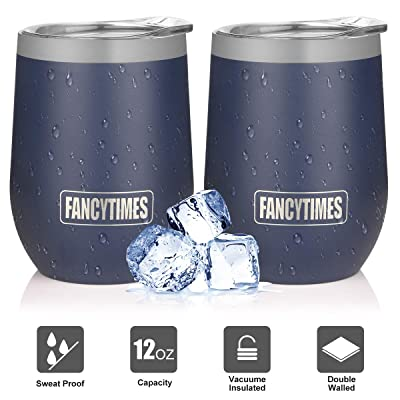 Fancytimes 12 oz Stainless Steel Wine Tumbler