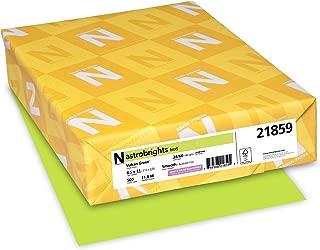"Neenah 21859 Astrobrights Color Paper, 8.5"" x 11"", 24 lb / 89 GSM, Vulcan Green, 500 Sheets"