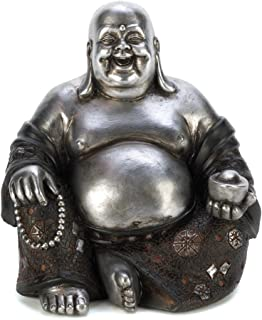 Gifts & Decor Happy Sitting Buddha Inspirational Religious Statue
