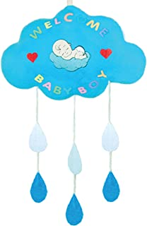 Baby Mobile Cribs Ceiling Hanging Toy Cloud and rain Drop Felt Nursery Decorations for Newborn Baby boy Baby Shower Gift