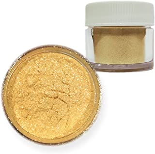 Gold Pearl Edible Luster Dust, 4g Jar   Bakell Food Grade Decorating Glitters & Dusts for Dessert, Foods & Drinks