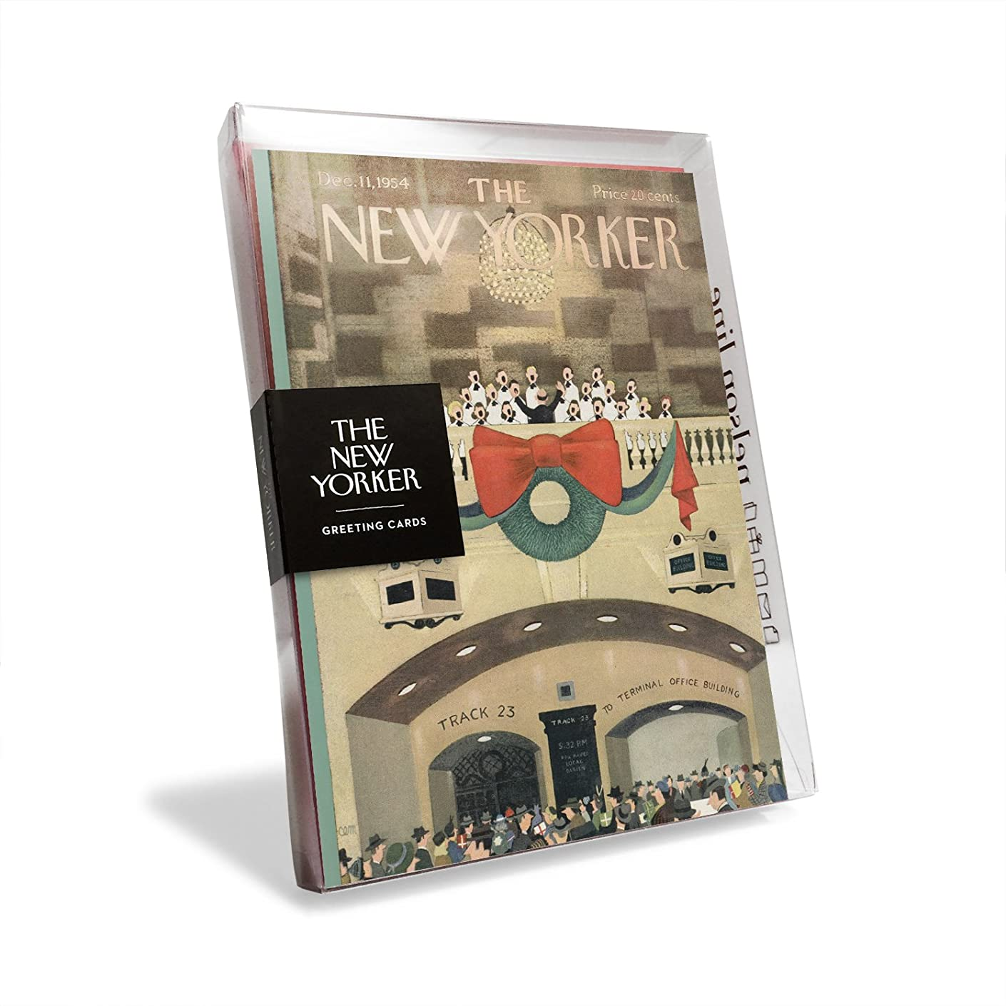 The New Yorker Magazine Cover Choir at Grand Central Station Holiday Cards (Box of 8)