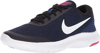 Nike Women's Flex Experience Rn 7 Black/White - Deep Royal Blue Ankle-High Fabric Running Shoe 7.5M