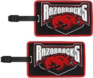 Arkansas Razorbacks - NCAA Soft Luggage Bag Tag - Set of 2