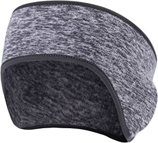 Obacle Ear Warmer Headband for Women Men Sweatband Non Slip Thin Lightweight Sport Fleece Headband Earmuff Ear Band Ear Cover Muffs for Winter Cold Weather Running Yoga Jogging Workout Cycling Riding