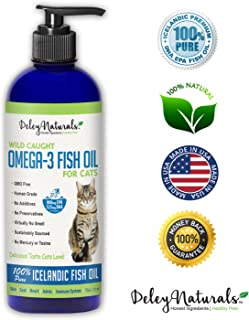 Wild Caught Fish Oil for Cats - Omega 3-6-9, GMO Free - Reduces Shedding, Supports Skin, Coat, Joints, Heart, Brain, Immune System - Highest EPA & DHA Potency - Only Ingredient is Fish - 16 oz