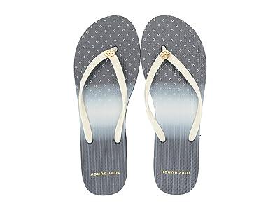 Tory Burch Thin Flip Flop (New Ivory/Shibori Dip-Dye) Women