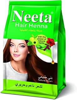 Neeta Hair Henna 125gm Henna based Ammonia Free Hair Color With Amla, Shikakai, Hibiscus And Aloe Vera