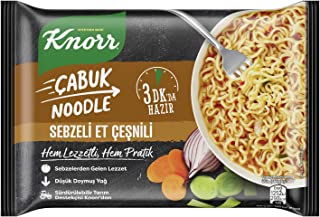 Knorr Sebzeli Et Çeşnili Çabuk Noodle 66G