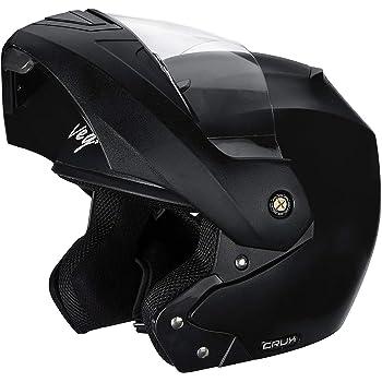 Vega Crux Flip Up Helmet in Black