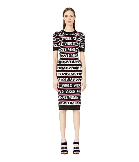 Versus Versace Logo Knit Sweater Dress