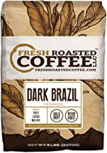 Fresh Roasted Coffee LLC, Dark Brazilian Cerrado, Medium-Dark Roast, Whole Bean, 5 Pound Bag