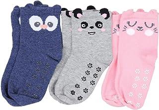 TupTam, Calcetines Antideslizantes para Bebé Niña Recien Nacido 3 Pares 0 meses a 6 años