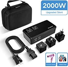 ECOACE Upgraded 2000W Voltage Converter with 4 USB Ports,Step Down 220V to 110V Power Converter...