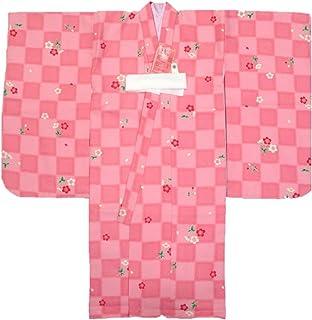 3才着物?長襦袢3点セット 【ひさかた?ろまん】【ピンク?市松】【日本製】【3歳】【七五三】【】