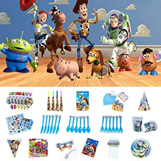 Nidezon Toy Story 4 Birthday Party Supplies,100 Pieces Party Birthday Decoration Shower Decorations For 6 With Toy Story 4...