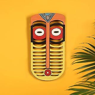 Karo Tribal Yellow Wall Decor Mask (5x0.2x10)