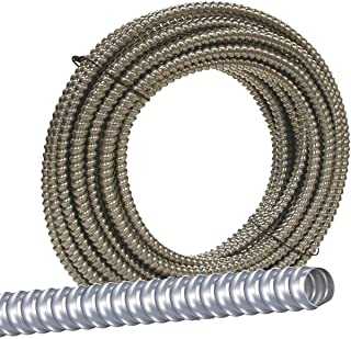 Jensen Distributing 55082122 AL Flex Fo5000050M Type Rwa Reduced Wall Flexible Conduit, 1/2 in X 50 Ft, Aluminum