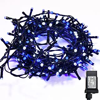 WISD String Lights 400 LED 75ft Dual Color Plug in Fairy Lights with 8 Effects and Memory, String Lights Decor for Wedding, Bedroom, Christmas, Party, Indoor Outdoor Home Decoration (Blue + White)