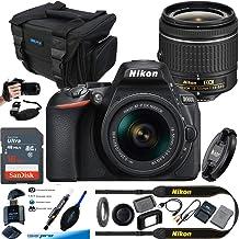 $509 Get Nikon D5600 DX-Format Digital SLR with AF-P DX NIKKOR 18-55mm f/3.5-5.6G VR Lens, Black - Essential Accessories Bundle