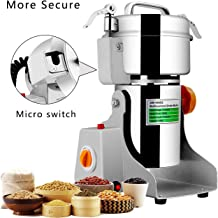 Insir Grain Grinder Mill Stainless Steel Electric High-speed Family Medicial Powder Machine Commercial Cereals Grain Mill Herb Grinder,Pulverizer 110v Gift for Mom, Wife (400G)