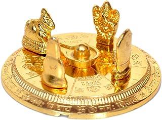 Hashcart Gold Plated Shiv Parivar with Shivling Shri Kartik Shri Ganesh MATA Parvati and Shri Nandi