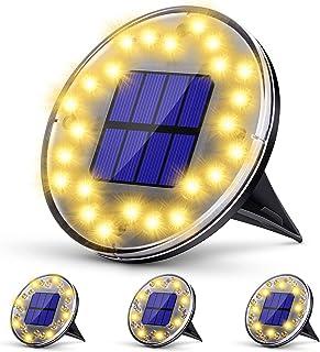 Lampe Solaire Jardin, KagoLing Lumière Solaire Extérieur 24 LED Spot Solaire Extérieur Jardin IP68 Etanche 2 Modes LED Sol...