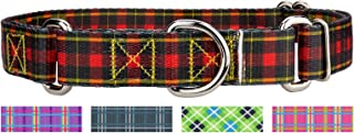 Country Brook Petz - Martingale Dog Collar - Plaid and Argyle Collection