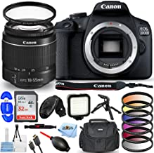 $479 » Canon EOS 2000D / Rebel T7 with EF-S 18-55mm III Lens - Pro Bundle with Ultra 32GB SD, LED Light Kit, 6PC Filter Kit, Gadg...