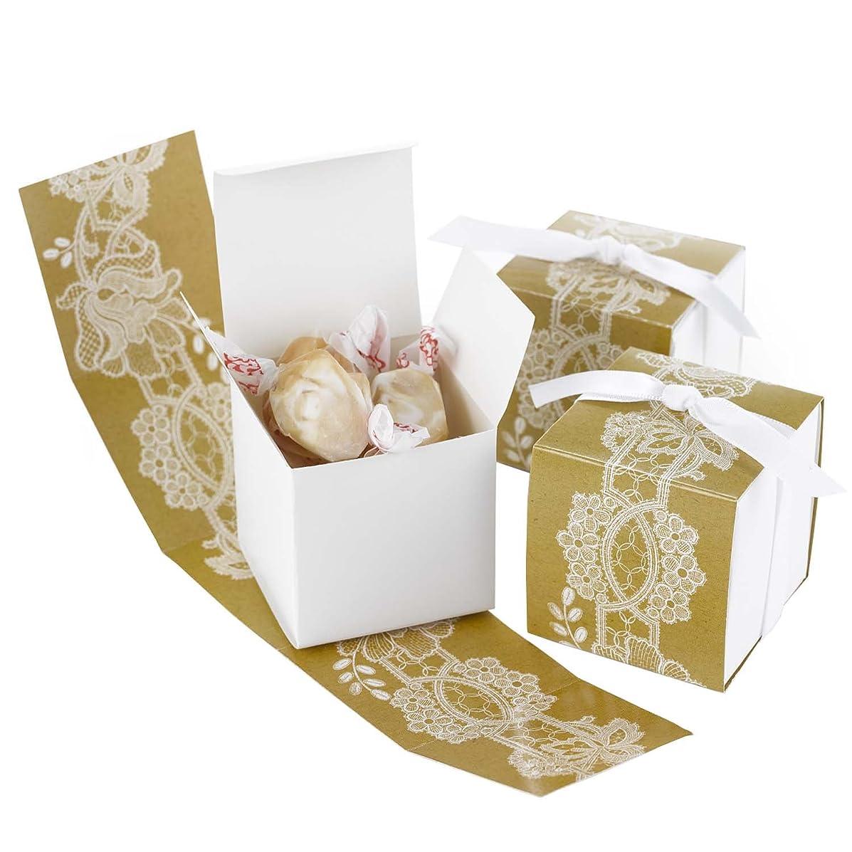 Hortense B Hewitt Rustic Lace Wrap Favor Boxes, 25-Pack