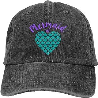 Fashion Casual Unisex Mermaid at Heart Adjustable Baseball Cap Adult Denim Hat