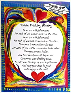 Apache Wedding Blessing 8x11 poster - Heartful Art by Raphaella Vaisseau
