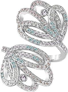 Swarovski Escape Rhodium Plated Crystal Fashion Ring - Size 18.15 mm