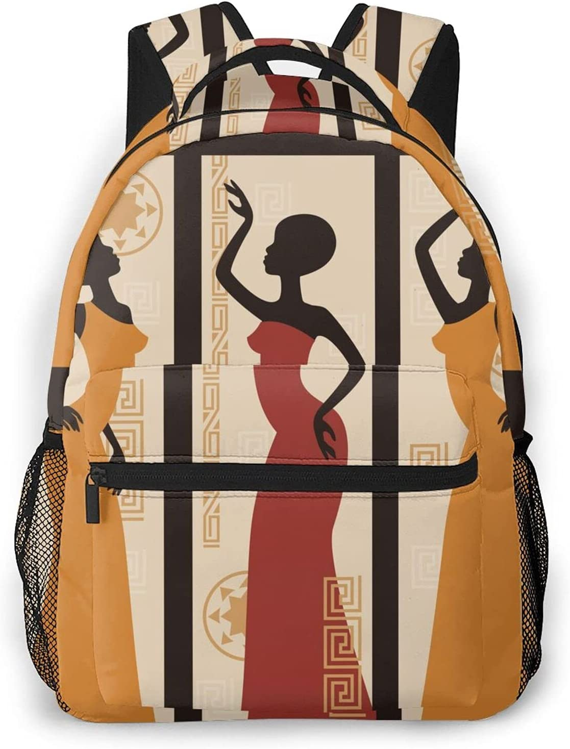 African American Women depot Casual Backpack Sc Large Year-end gift Fashion Capacity