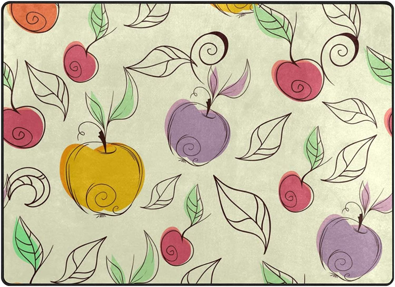 FAJRO colorful Apples Pattern Rugs for entryway Doormat Area Rug Multipattern Door Mat shoes Scraper Home Dec Anti-Slip Indoor Outdoor