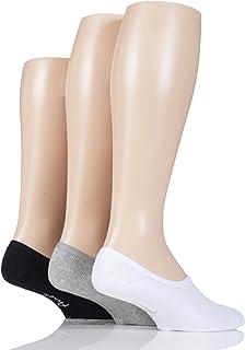 Men's 3 Pair Pringle Plain Cotton Cushioned PED Socks