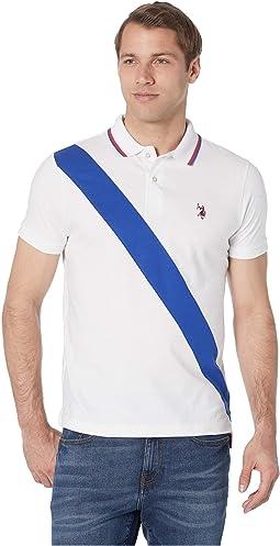 Slim Color Block Jersey Polo