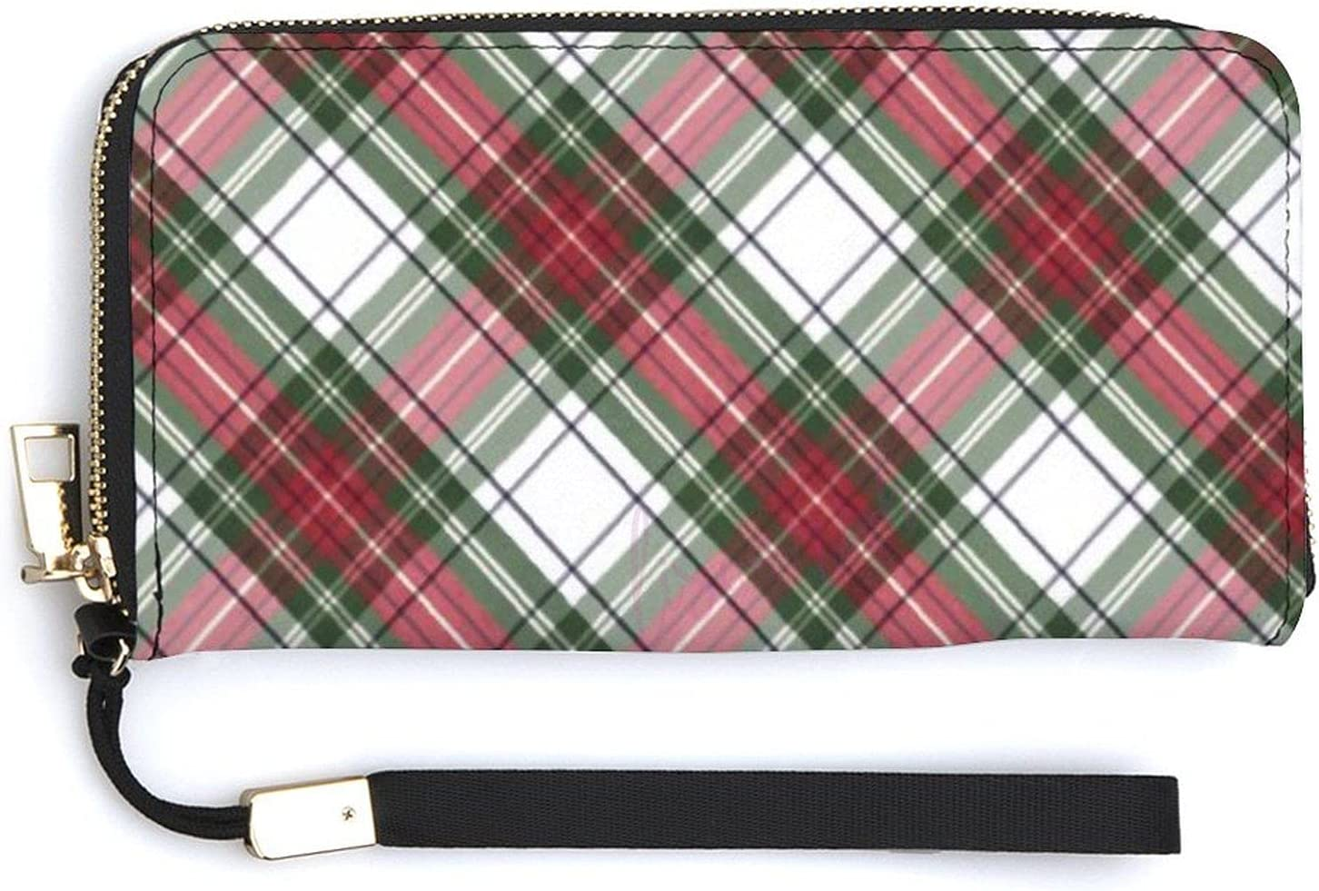 Wallets for Women PU Leather- Now on sale Red Zip Around White Jacksonville Mall Plaid Green