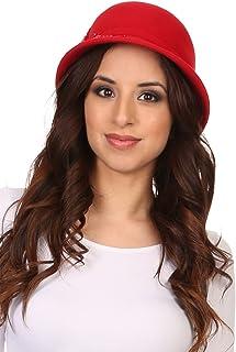 Sakkas Perla Vintage Wool Cloche Bucket Embroidered Beaded Embellished Hat Cap