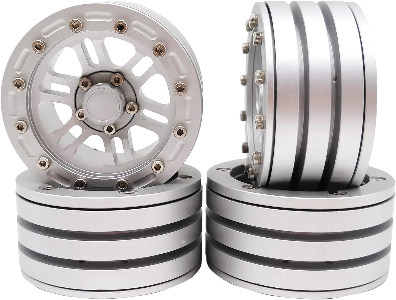 NC Set of NEW before selling 4 RC Car 1.9 for Rim Fresno Mall SCX10 Hub Rock Wheel Buggy
